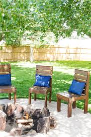 Firepit Chairs Easy Diy Outdoor Chairs Risenmay