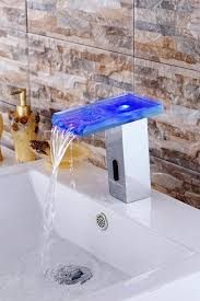 Led Bathroom Faucet by Greenspring Led Sensor Automatic Touchless Waterfall Bathroom