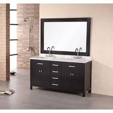 design element solid wood 61 inch sink bathroom vanity set