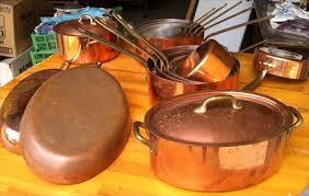batterie de cuisine cuivre casseroles cuivre matériel francais à 2400 66000 perpignan