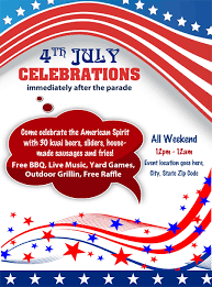 office party flyer 4th july independence day celebrations party flyer office