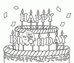 100 ideas free printable coloring pages birthday cake on