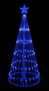 amazon com 6 u0027 blue led light show cone christmas tree lighted