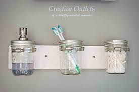 diy mason jar bathroom ideas bedroom and living room image