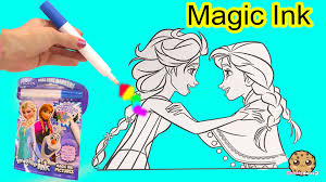 disney frozen imagine ink rainbow color art book surprise