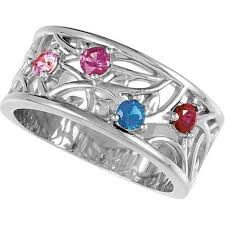 silver mothers ring silver 3 to 5 stones s ring