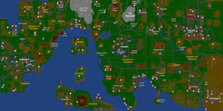 Runescape 2007 World Map by Jagex Ltd