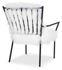 Accent Chairs Black And White Lara Sheepskin Accent Chair Black And White Value City Furniture