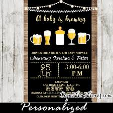 a baby is brewing a baby is brewing invitation bbq shower personalized