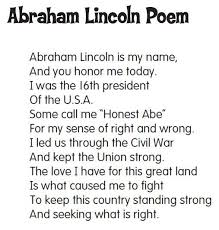 biography of abraham lincoln in english pdf abraham lincoln poem perfect for presidents day link goes