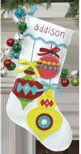 bright ornaments felt applique kit navidad