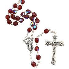 birthstone rosary birthstone rosary january the catholic company