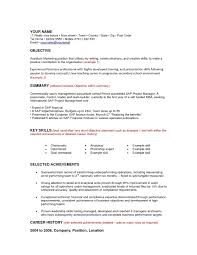 Mba Skills Resume Resume Career Objective Examples For Mba Resume Ixiplay Free
