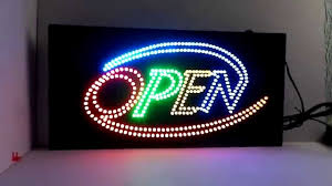 shop open sign lights new open shop flashing led sign open window hanging sign board youtube