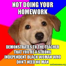 Advice Dog Meme Generator - not doing your homework demonstrates to the teacher that you re a