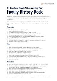 the four questions book 34 questions to ask when writing your family history book
