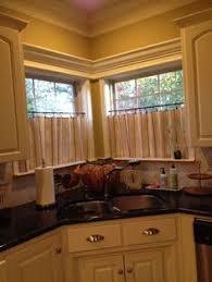 Curtains For Kitchen Window corner kitchen window treatment ideas café curtains for kitchen
