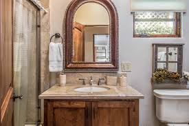 granite countertop for cottage bathroom with single vanity and