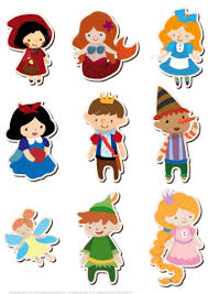 printable version of snow white printable stickers of little red cap prince princess fairy