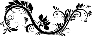 decorative floral ornament in black vector