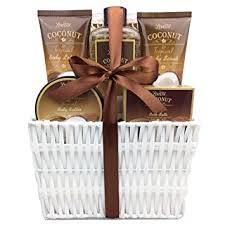 bath gift basket spa gift basket and bath set with refreshing coconut