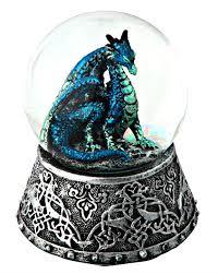 blue snow globe