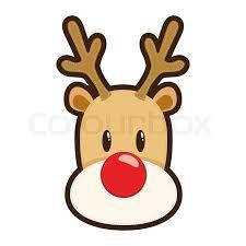rudolph red nosed reindeer face drawing noel