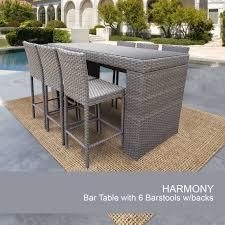 piece bar setting outdoor wicker set design furnishings patio