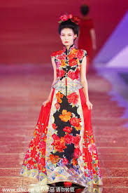 Chinese Wedding Dress Traditional Chinese Wedding Dresses Presented In Shanghai 1