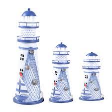 lighthouse home decor desk decor lighthouse figurines metal craft light house beacon home