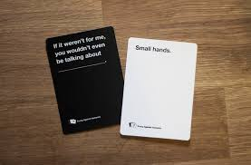 inappropriate cards against humanity card sidelined amid battle