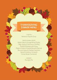 thanksgiving thanksgivingnner menu template planner ham