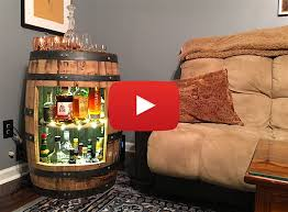 wine barrel liquor cabinet build a whiskey or wine barrel liquor cabinet video crafted workshop