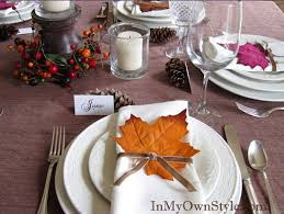 tabletop tuesday thanksgiving table settings