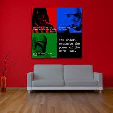 star wars dark side quote square wall art 0 star wars dark side quote square wall art