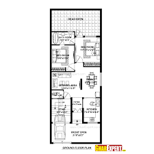160 yard home design house plan for 23 feet by 60 feet plot plot size 153 square yards
