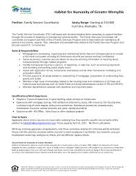 Sending A Resume With No Job Posting by Family Services Coordinator U2013 Habitat For Humanity Job U0026 Career