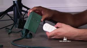 balsam hill color clear lights troubleshooting your color clear remote from balsam hill youtube