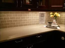 kitchen white glass subway tile backsplash beige subway tile