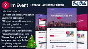 halloween web template im event event conference landing page website templates and