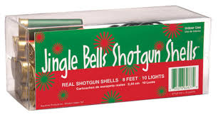 set of 10 red and green remington shotgun shell christmas lights