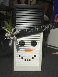 shutter snowman let it snow crafty things to make pinterest