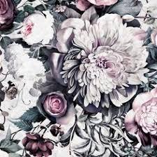 dark floral ii black saturated floral wallpaper by ellie