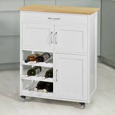 kitchen storage cabinet cart sobuy fkw45 wn kitchen storage serving trolley cart with rubber wood worktop storage cabinet
