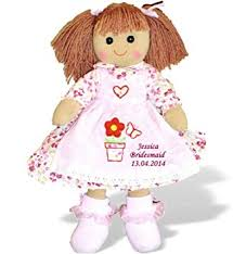 flower girl doll gift personalised large rag doll bridesmaid or flower girl dolly