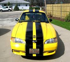 Yellow Mustang With Black Stripes Bearstang98 1998 Ford Mustang Specs Photos Modification Info At