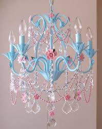 bedroom extraordinary pink crystal light chandelier for girls room