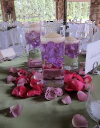wedding candle centerpieces sand and candle centerpieces with stunning purple flower plus