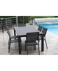 chaises salon de jardin salon de jardin 1 table de 200 cm et 6 chaises de créador