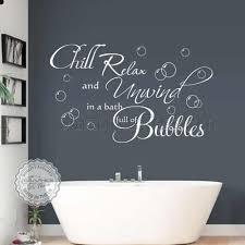 chill relax unwind bath full of bubbles bathroom wall sticker